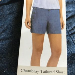 The Limited Tailored Chambray Shorts Size 4